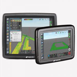 Topcon's X35 (left) and X25 (right) consoles have been certified for a range of ISOBUS functions.