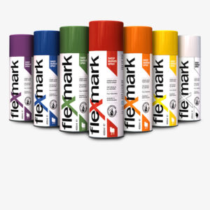 Flexmark Sheep Marker Spray is available in seven long-lasting, bright, clear and distinct colours: red, blue, green, orange, yellow, purple and white.