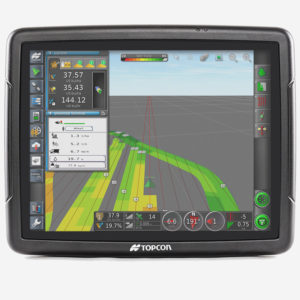 Topcon's X-series consoles are able to control a range of implements and functions including auto-steer, variable rate application and auto-section control.